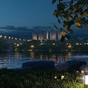 城市規劃景觀模型3d模型