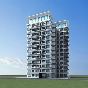 现代高层建筑模型3d模型