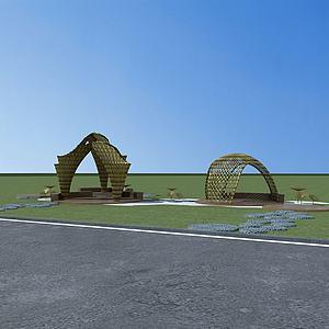 生態涼亭3d模型