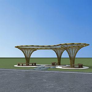 生態遮陽棚3d模型