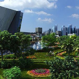 城市景觀模型3d模型