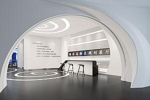 展厅形象墙大厅模型模型