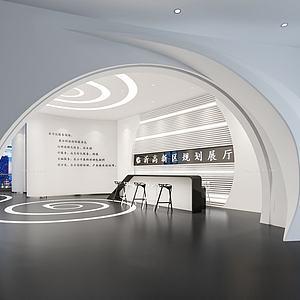 展廳形象墻大廳模型3d模型