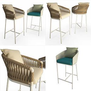 高腳吧椅模型3d模型
