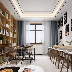 3d快餐廳模型