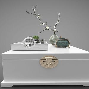 3d新中式風格茶幾模型