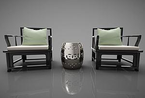 单人沙发模型3d模型