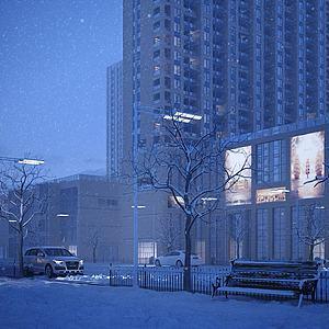 新古典商業街模型3d模型