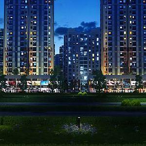現代住宅商業區模型3d模型