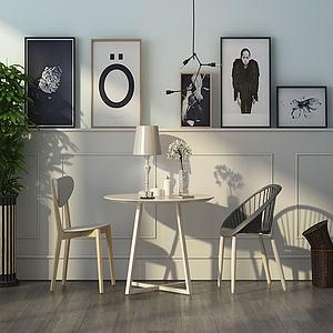 北欧风桌椅模型3d模型