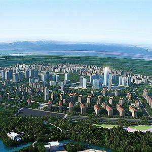 城市規劃模型3d模型