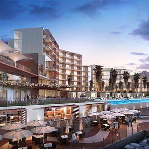 现代酒店模型3d模型