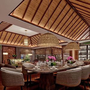 3d東南亞總統套客房模型