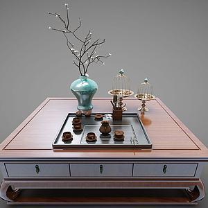 新中式風格茶幾模型3d模型