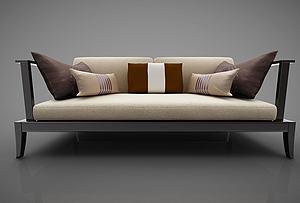 新中式風格沙發模型3d模型
