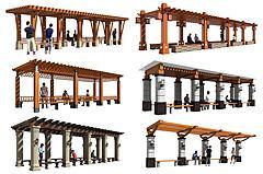 景觀長廊花架3D模型