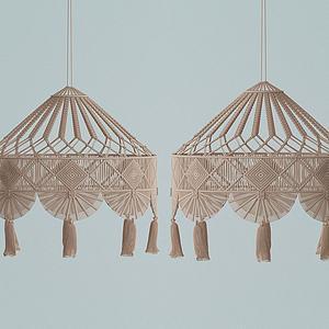 現代布藝飾品3d模型