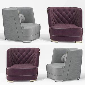 簡歐單人沙發3d模型