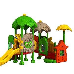 兒童城堡滑梯模型3d模型