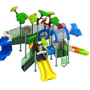 兒童游樂設備模型3d模型