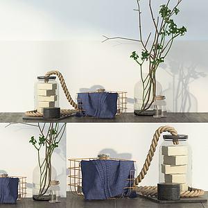 美式風格裝飾品3d模型