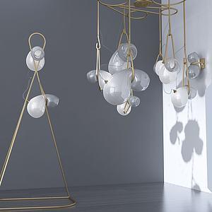 北歐金屬吊燈3d模型