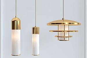金属质感吊灯模型模型