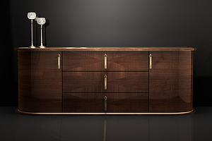 現代實木電視柜模型3d模型