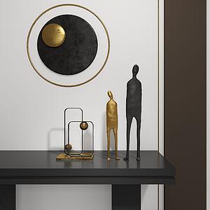 现代轻奢雕塑饰品摆件3d模型