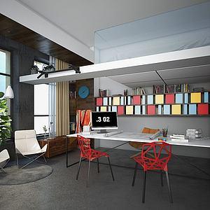 办公室休息室模型