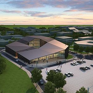 公建游客中心展覽館模型3d模型