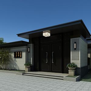 住宅大門模型3d模型