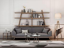 现代沙发装饰柜组合