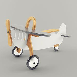 現代玩具飛機模型3d模型
