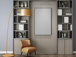 现代简约单人沙发装饰柜