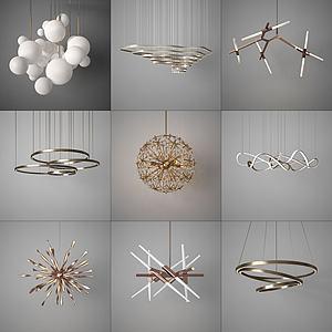 各式吊燈模型3d模型