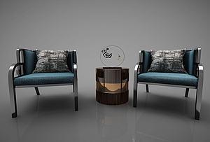 现代风格单人沙发模型3d模型