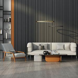 現代奢華沙發椅子茶幾組合模型3d模型
