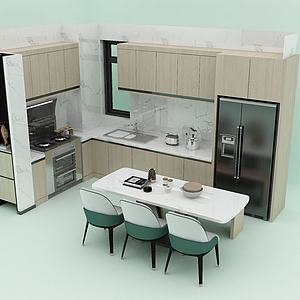 3d廚房<font class='myIsRed'>餐廳</font>模型