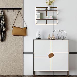現代簡約柜子衣服包模型3d模型