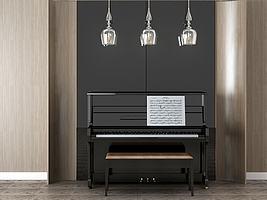 钢琴组合模型模型