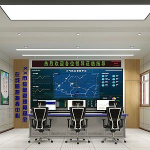 监控控制室模型