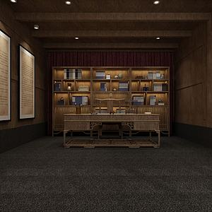 博物馆书房模型