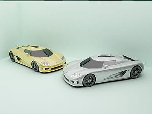 3d汽車跑車超跑模型