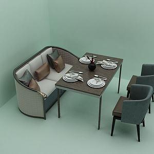会客餐桌模型3d模型