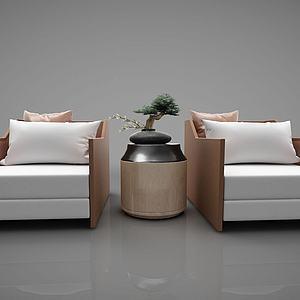 现代沙发单人沙发模型3d模型