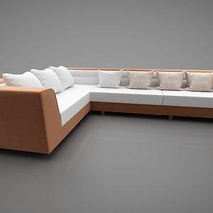 现代沙发转角沙发模型3d模型