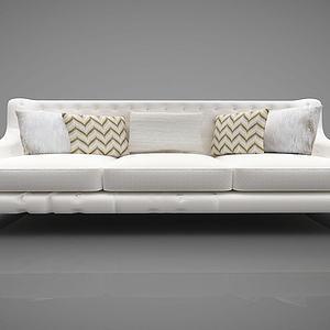 现代沙发多人沙发模型3d模型