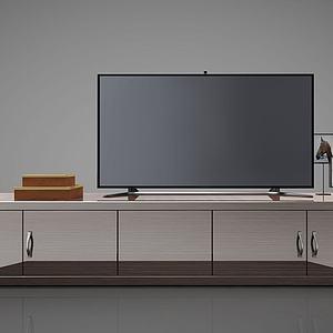 3d現代簡約電視柜邊柜模型