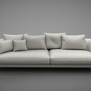 现代简约沙发茶几组合模型3d模型